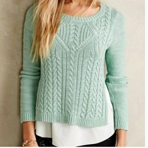 Anthropologie moth layered knit sweater